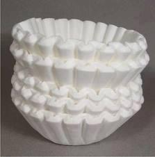 Coffee filters .... Who knew! And you can buy 1,000 at the Dollar Store for almost nothing even the large ones.