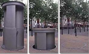 9. A Pop-Up Urinal