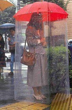 A full body umbrella