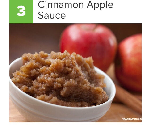 Slice as many apples as you would like (removing the core) and blend with the skin on. Add cinnamon & sugar for added sweetness!