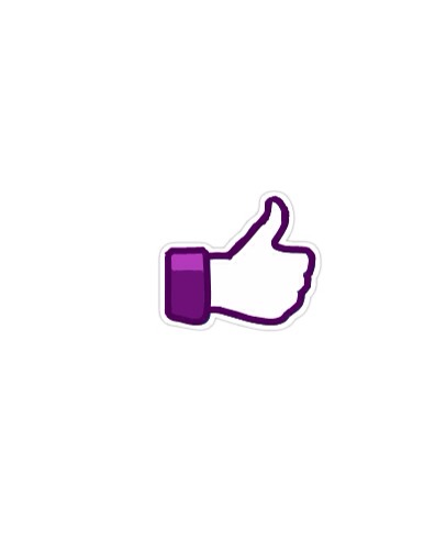 I re-drew the like button purple