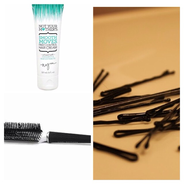 You're going to need these items bobby pins to hold down your hair A bristle brush to make sure your hair is laid down right & flat. And any kind of moisturizer  you would like to add. I would recommend the one that is shown in the picture because it'll keep your hair straight & take away frizz