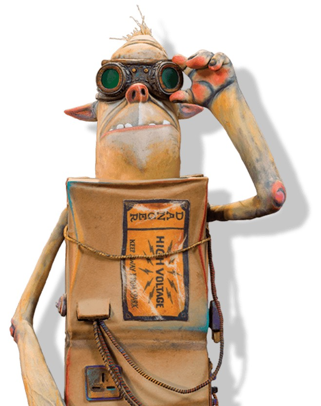 If you guessed sparky you are correct! Now you can amaze your child with your knowledge about finding the names of the box trolls.