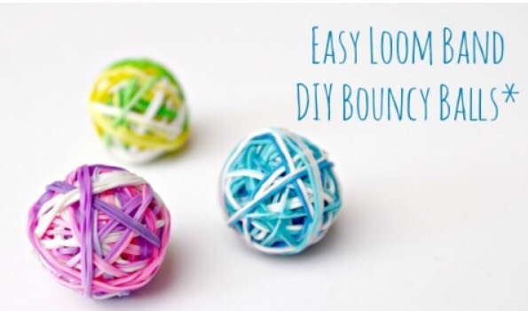 Loom band bouncy balls! A link to the website on this follows- http://www.redtedart.com/2015/04/28/diy-bouncy-balls-a-great-way-to-use-up-rainbow-loom-bands/