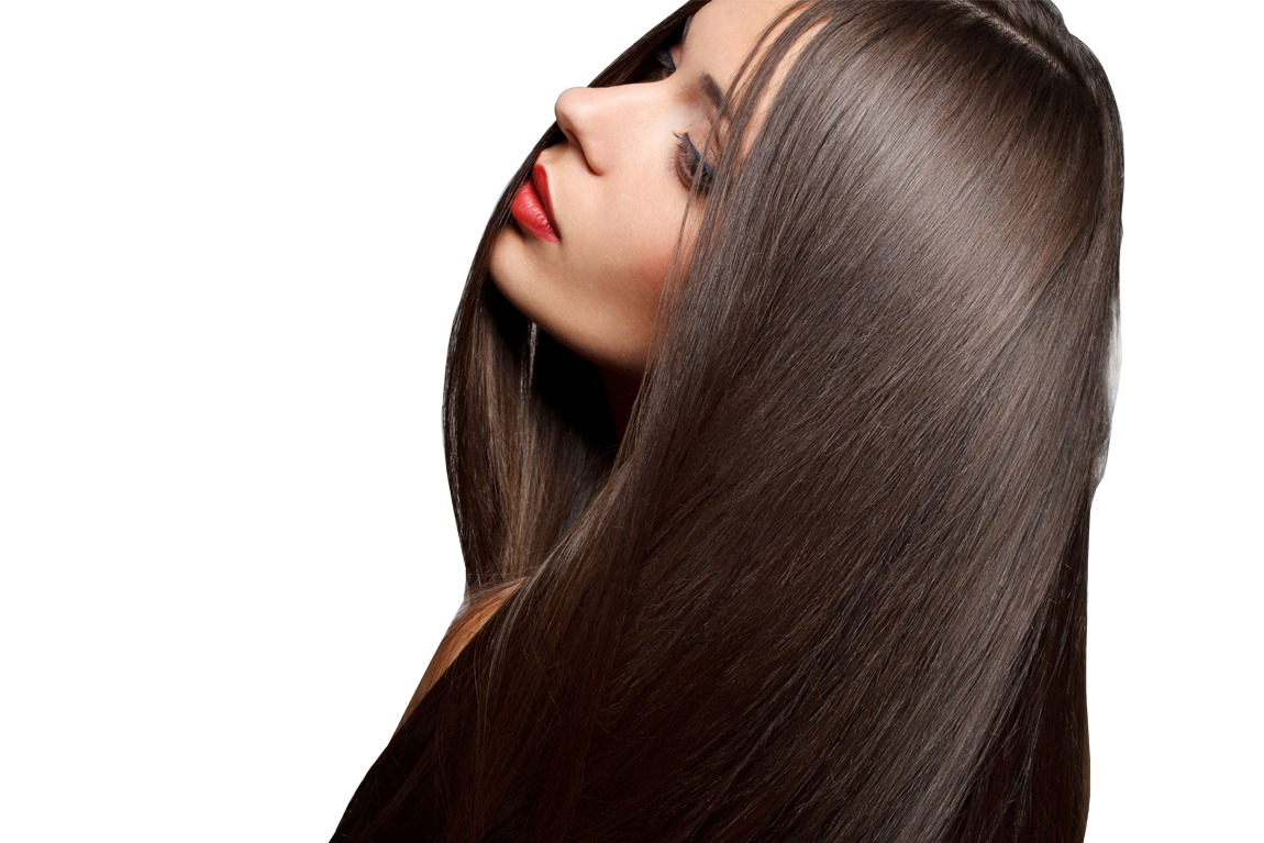 Apply a tiny bit to some of your hair to help seek in moisture and protecting it from getting dry