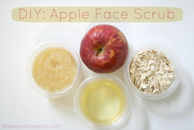 Make a face scrub from stuff you probably already have in your kitchen:  http://contributors.luckymag.com/post/beauty-diy-apple-face-scrub