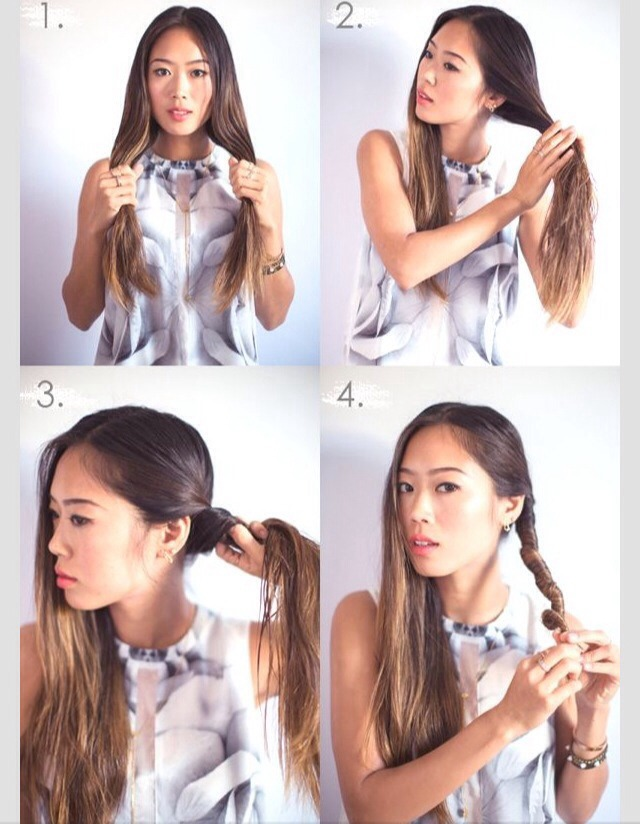Do this with damp hair!