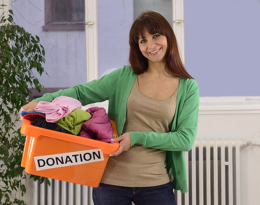 10. Don't just buy, donate too! It's easy to fill your closet or cupboards with fantastic and cheap thrift store find — a little too easy. Make it a habit of going through your stuff and donating what you no longer wear/need.