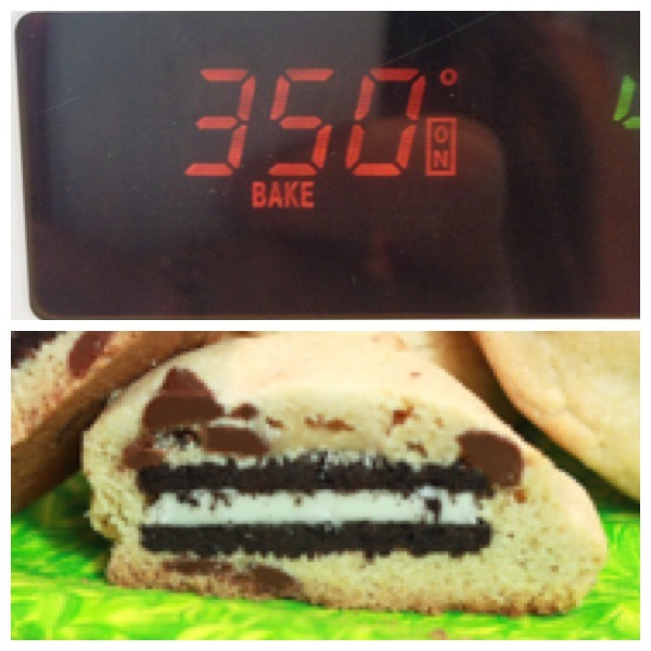 Bake at 350 for 12 minutes. Then BAM you have the best cookies ever :)