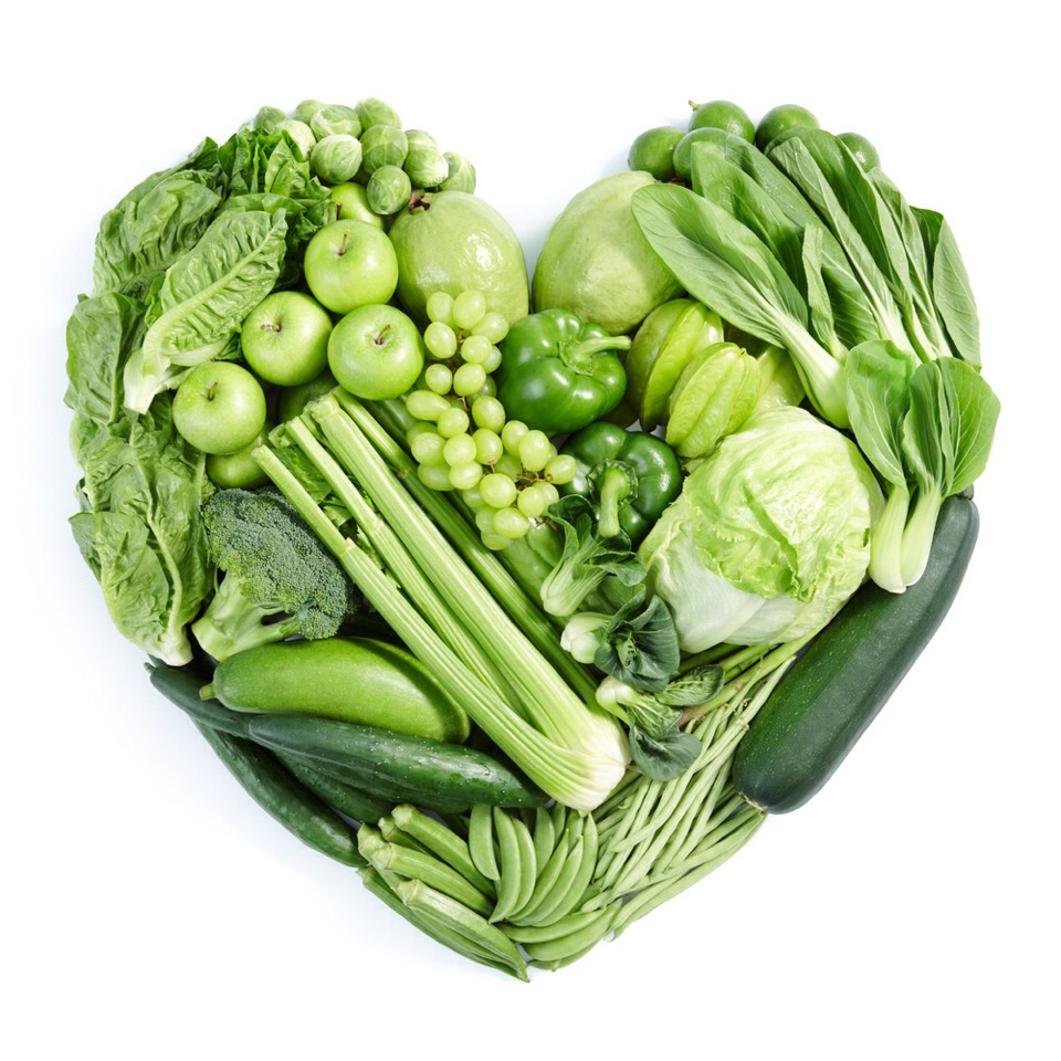 Green vegetables boosts iron in the body! The more iron in your body, the warmer you'll be!