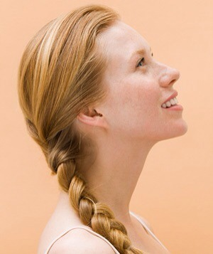 Put it in a side braid. (You can put more single braids in your hair.)