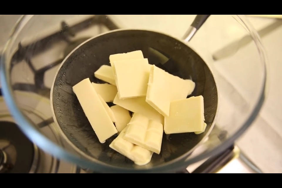 Melt a bag or two depending on how many pops you want of white chocolate or any chocolate preferred.