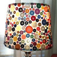 Make a button covered lampshade!