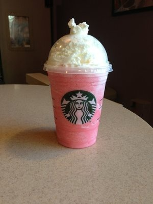 Cotton candy frapp. When you want something a little more sweet! btw it's also a great tumblr pic haha