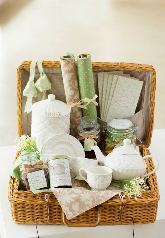 Tea time gift baskets