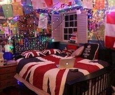 Have fairy lights hanging from your ceiling 😍