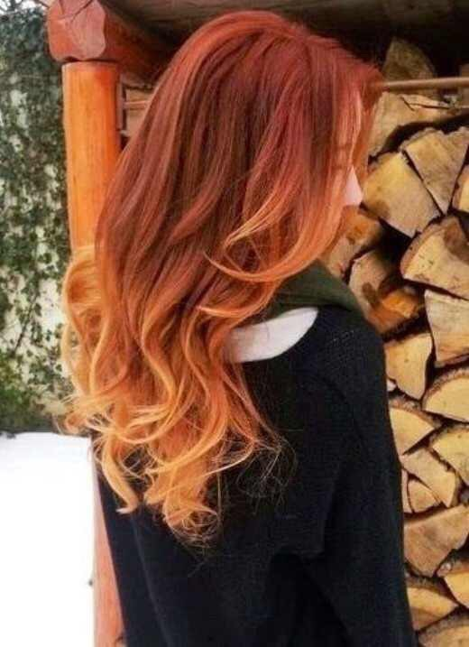Red and Blonde Ombré