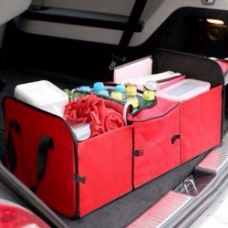Use baskets to hold your things to prevent things from rolling around in your truck.