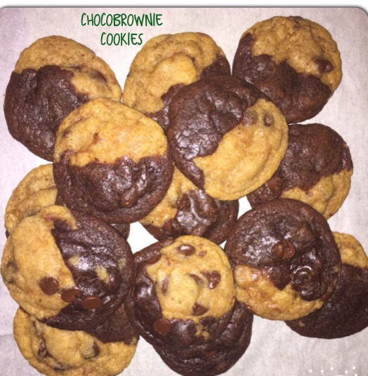I call these ChocoBrownie Cookies. Half chocolate chip, half brownie.