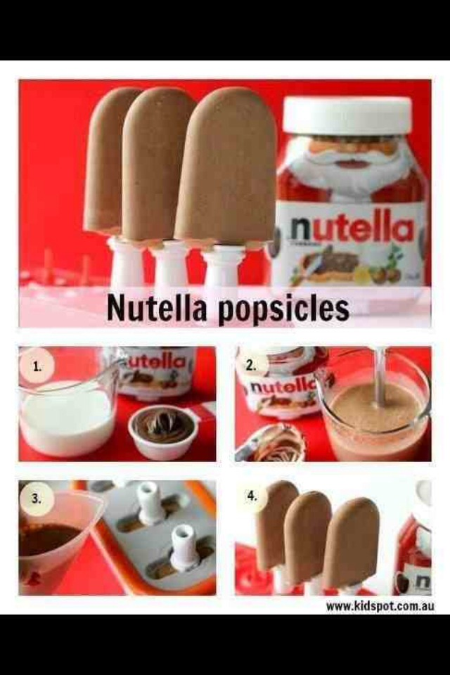 Nutella ice lollies. Try it