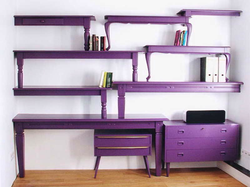 Coffee tables into crazy shelving
