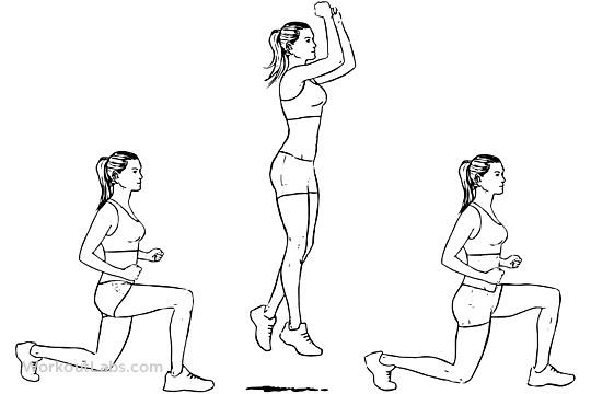 Do 10 alternating leg lunges
