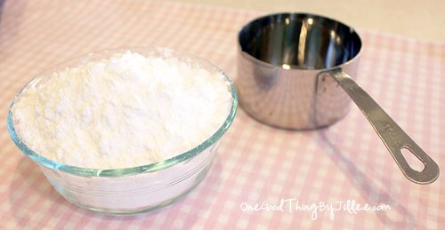 Making your own powdered sugar couldn't be easier!! It calls for one ingredient: granulated sugar! I'll never buy a bag of this stuff again!