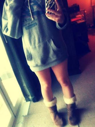 Guys love seeing their girl wearing their jumpers.