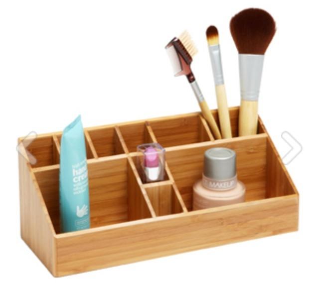 Bamboo Makeup Organizer, $12.99, containerstore.com
