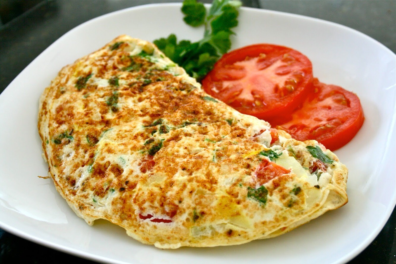 A sexy, soft and fluffy omelette.