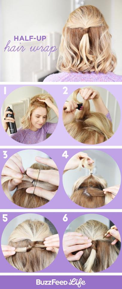 5. Half-Up Hair Wrap