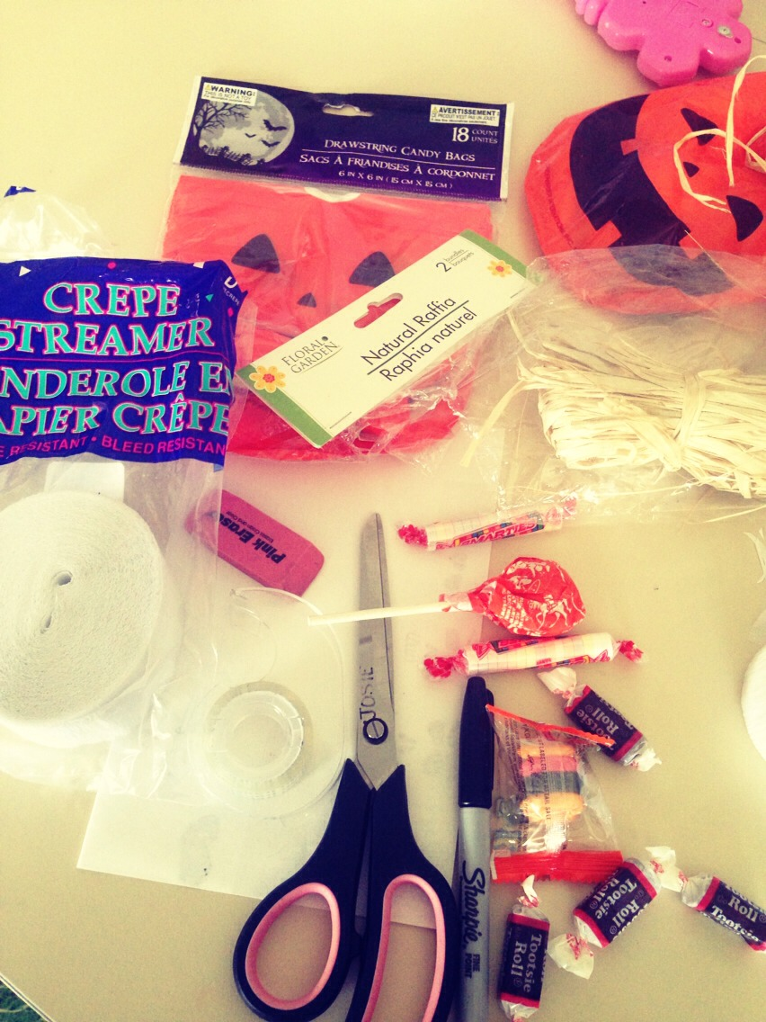 THINGS YOU NEED (i got them all at the dollar store!)