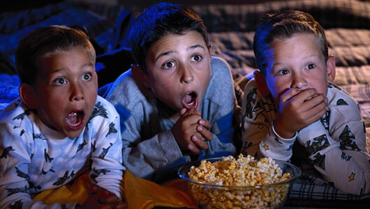 Watch movies! They could be horror, comedy, romance, or whatever u and ur besties love!