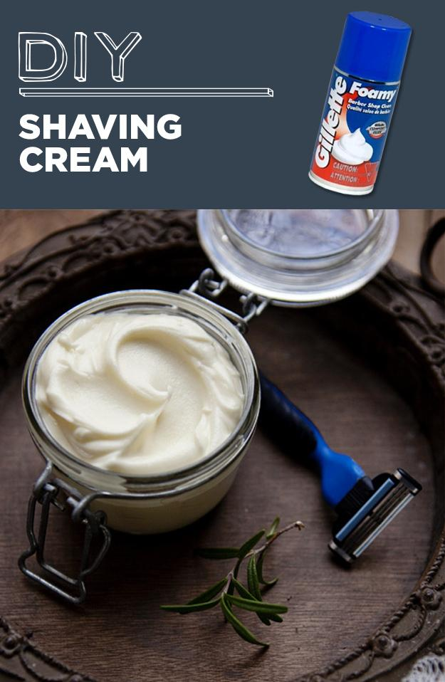 2. DIY Shaving cream  Rosemery mint shave cream 1/3 cup shea butter 1/3 cup virgin coconut oil 1/4 cup jojoba or sweet almond oil 10 drops rosemary essential oil 3-5 drops peppermint essential oil