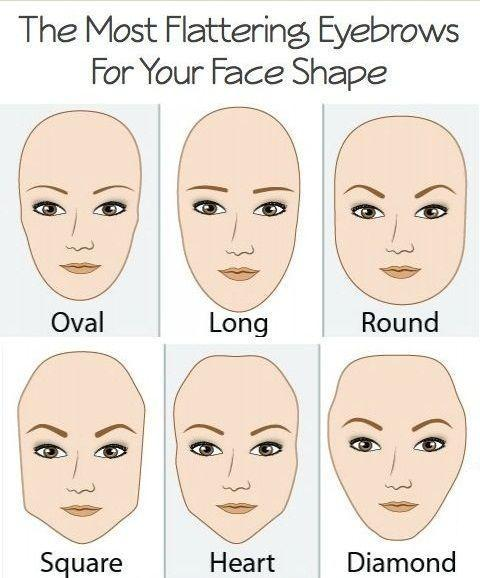 First, you should know which eyebrow shape is right for your face.