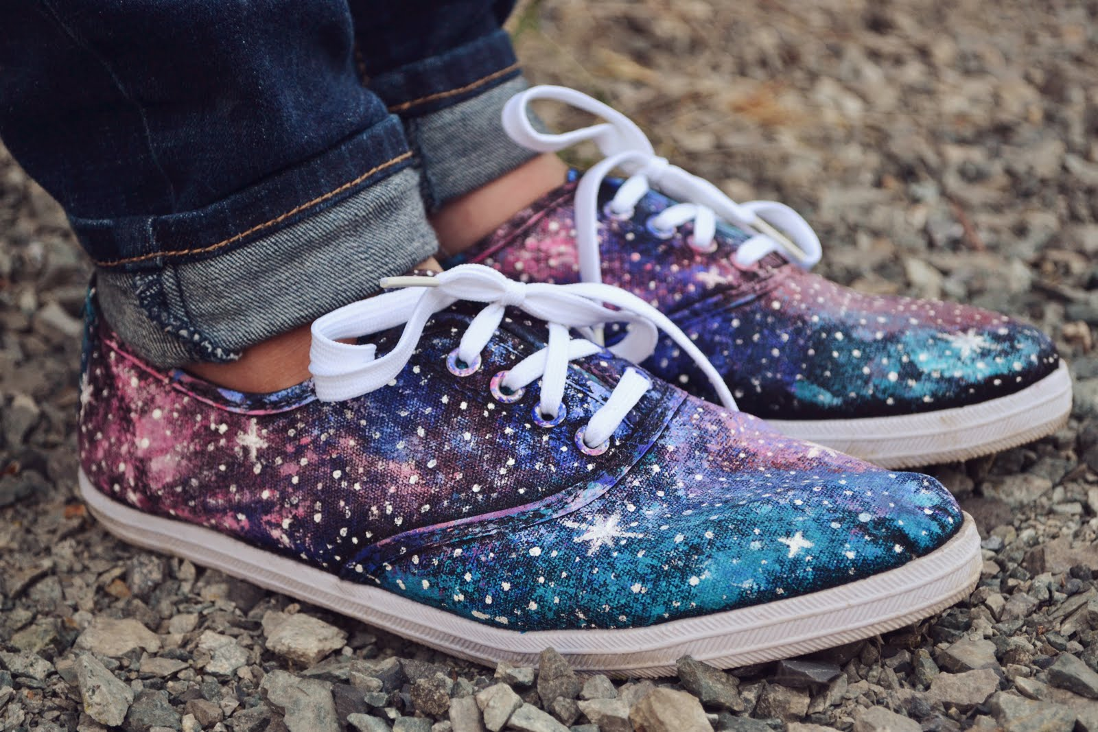 How To Dye White Canvas Shoes Galaxy