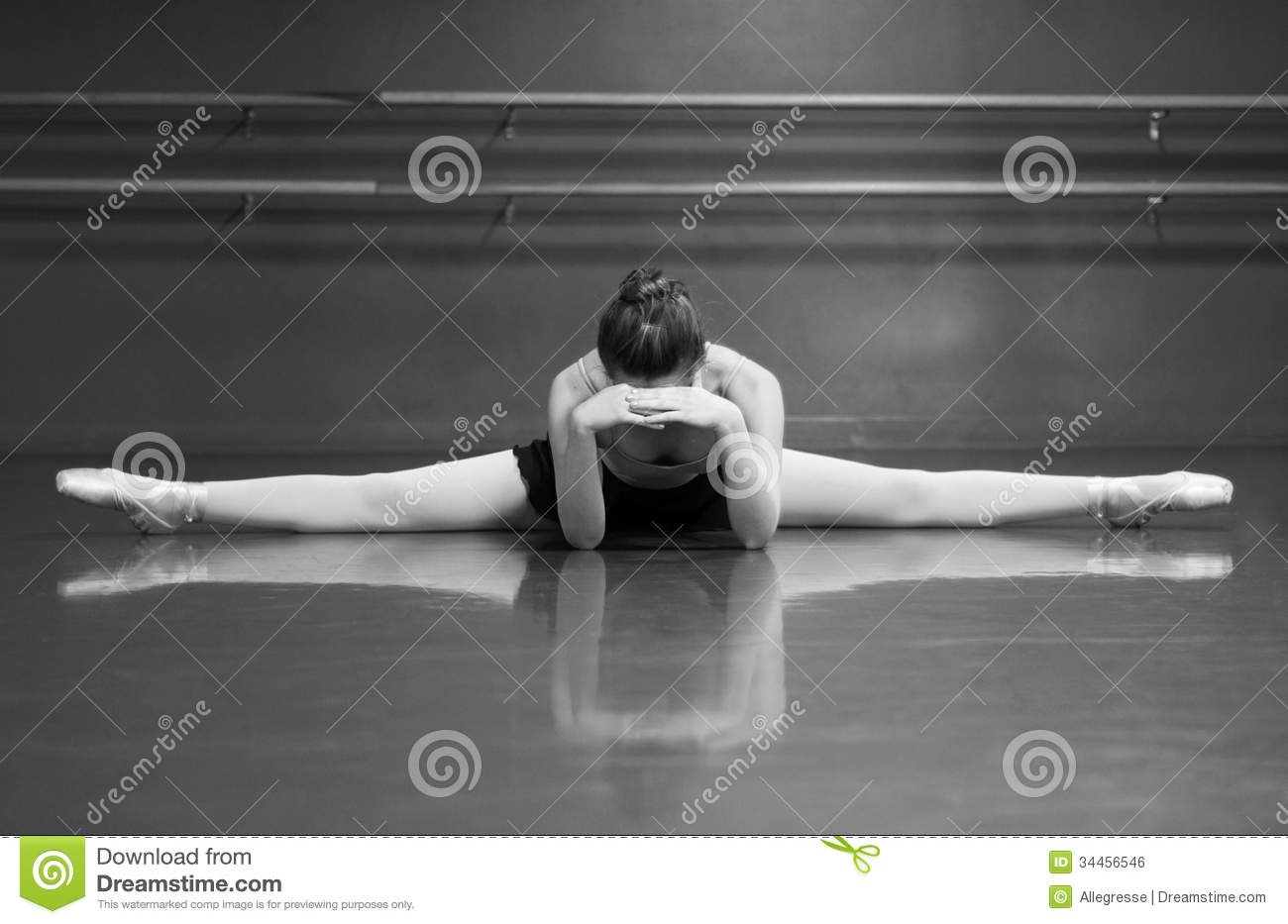 Stretch #1: If you're a dancer, it's always very helpful to have your right, middle, and left splits. These help stretch your legs (obviously) and make it easier for you to achieve other things like a tilt, leg grab, etc.... Practice these every day, doing each one for a minimum of 15 seconds.