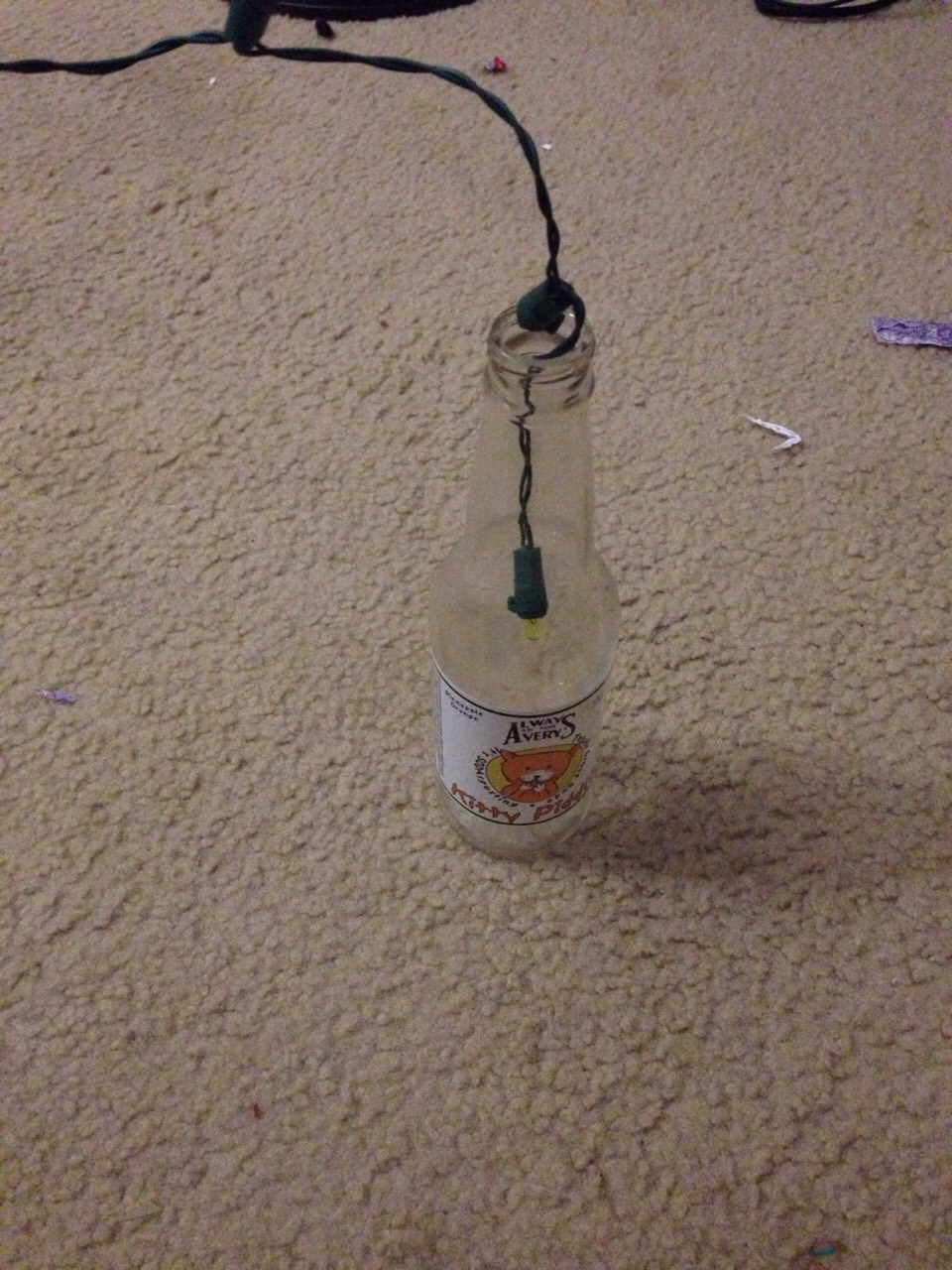 Slide the lights into the bottle, Aaaaand.......