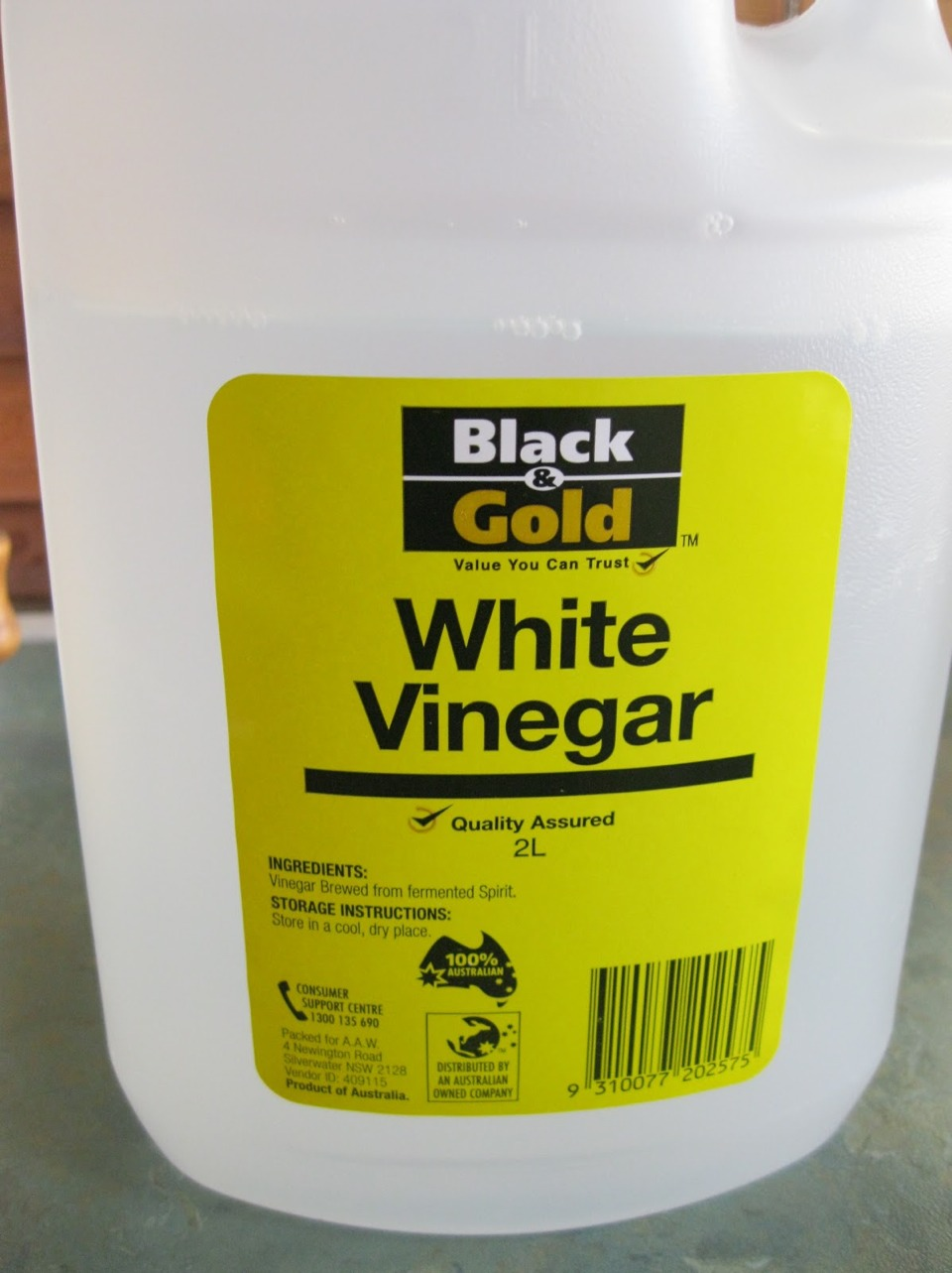 Use vinegar to clean the junk and mildew off your stainless steel