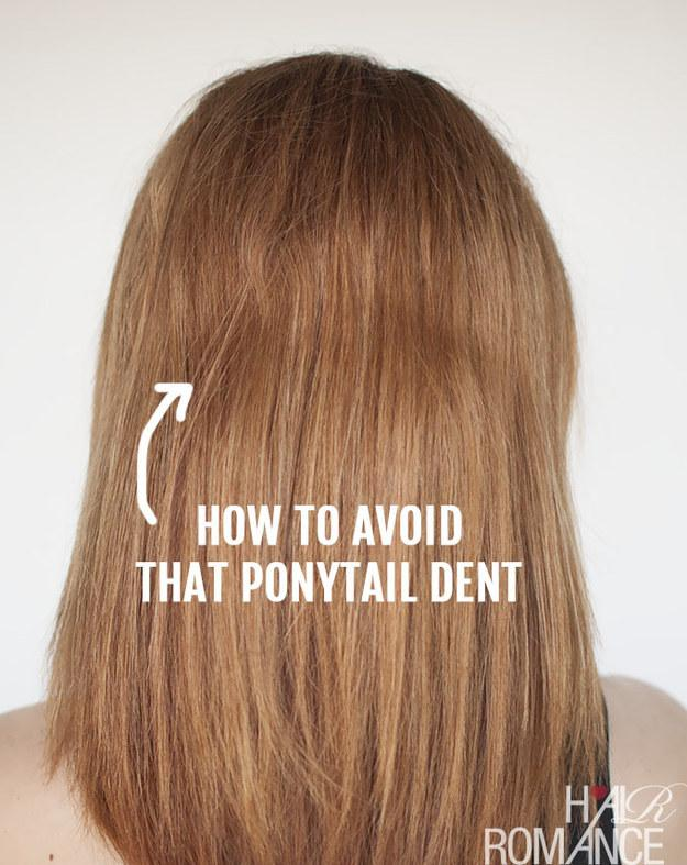 23. If you've never quite mastered ponytail dent-free hair, there's a product for that.  It's called the InvisiBobble and looks like a vintage phone cord.