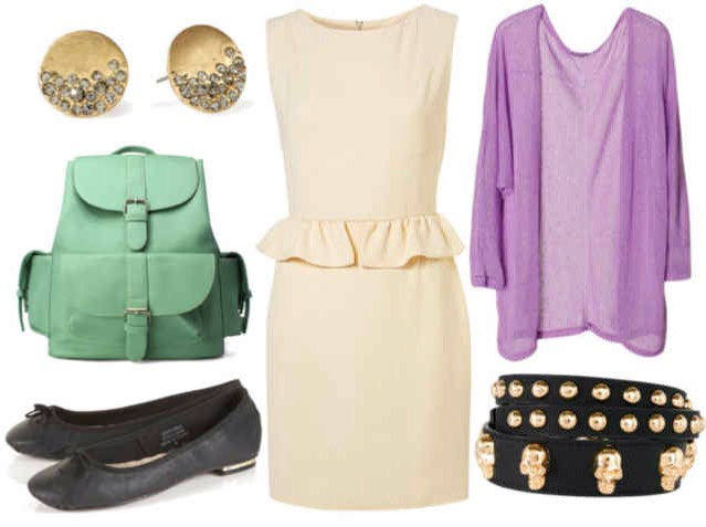 Peplum dress: Day