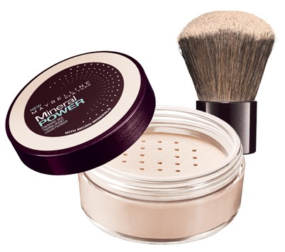 Next take your translucent powder and brush and lightly apply it to your lips until your lips are matte