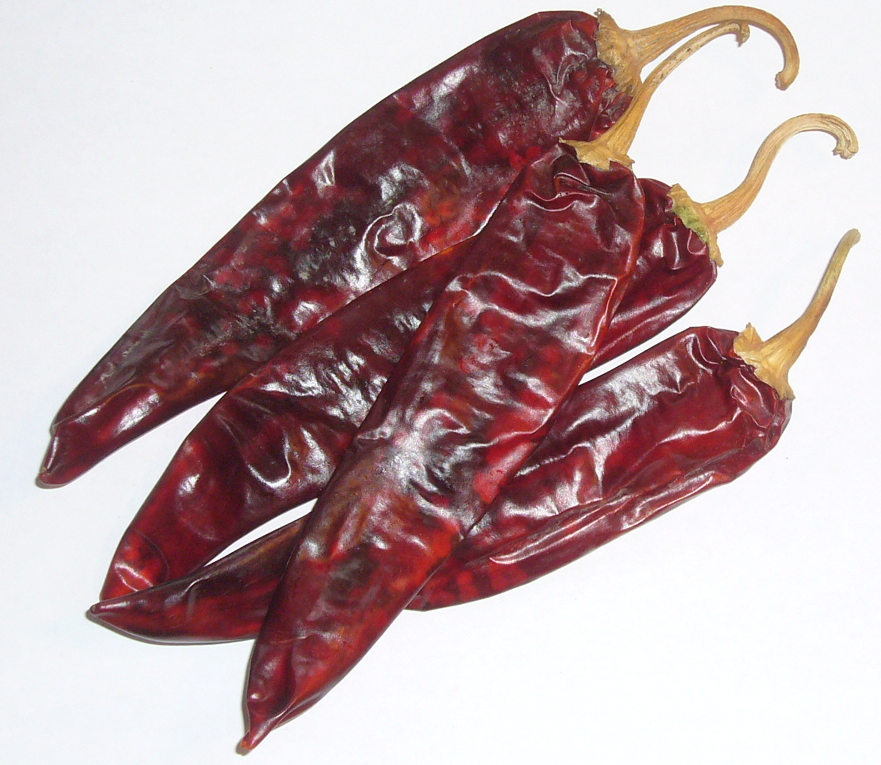 then you put about 10 chiles guajillos, found in Mexican stores or Walmart, to boil too seperately