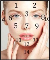 Each assigned number states the potential problems you might have in your body.