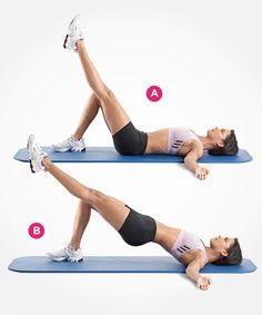 single-leg hip raise : 50 each leg ✋ rest for 10 seconds between each leg