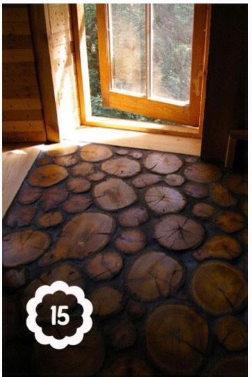 15. You can make this AWESOME floor!! I NEED this! Haha xD