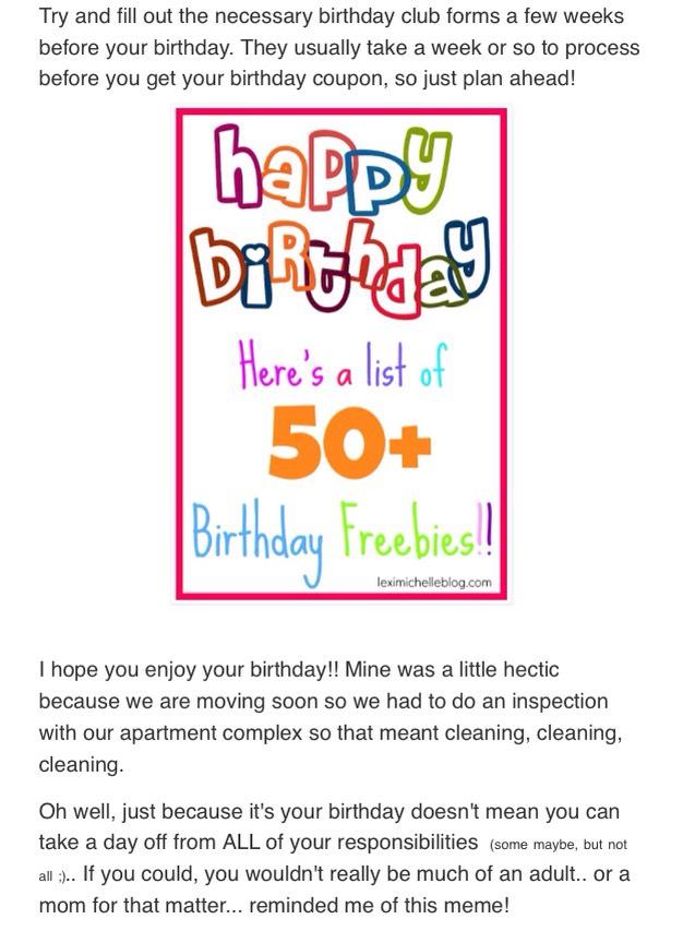 http://www.leximichelleblog.com/2015/08/birthday-freebies.html?m=1
