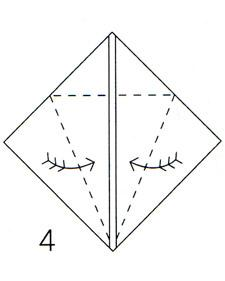 Bring left and right edges together on center line.