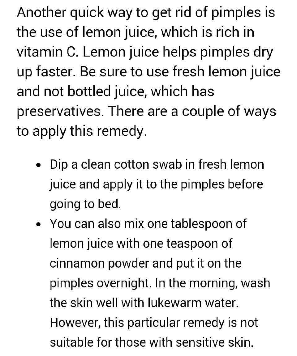 2.Lemon Juice