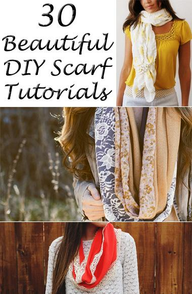 Beautiful DIY Scarf Tutorials